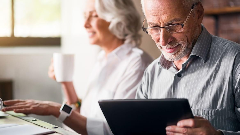 Man planning retirement